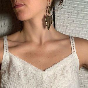 Jewelry - Dark gold/bronze dangly earrings